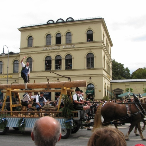 Oktoberfest Parade on Odeonsplatz