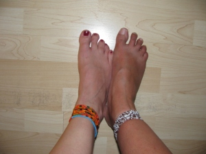 Repaired San Blas Anklet, yay!!