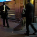 Escorted in Side Entrance with Bodyguard