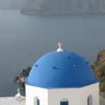 Oia Church and the Sea
