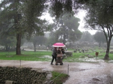 Rain Pouring on Ruins & People_3
