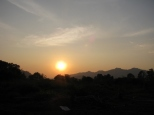 Elephant Village Sunset