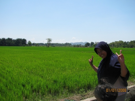 Salma at a Rice Field (Sawa)